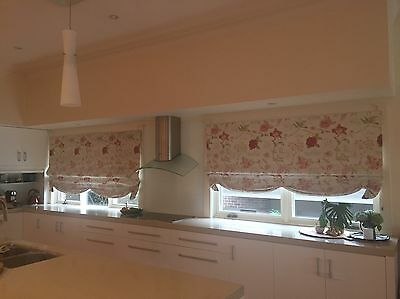 High Quality Floral Roman Blinds Blockout Fabric