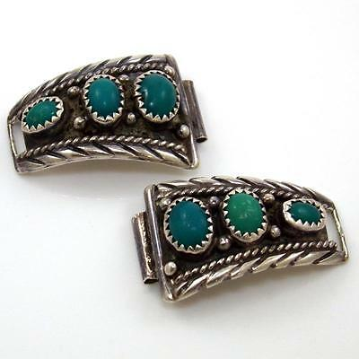 Lorencita Garcia Native American Sterling Silver Turquoise Watch Band Ends STA1