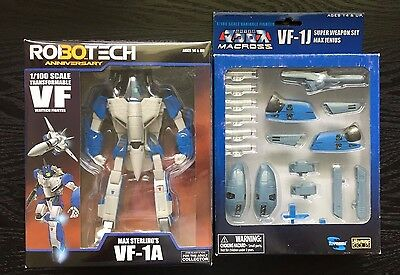 MISB Robotech 30th Anniversary 1/100 Max Sterling's VF-1A with Super Weapon Set