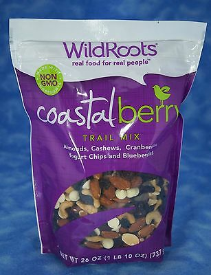 Wild Roots Coastal Berry Trail Mix Almonds Cashews Cranberries Yogurt Chips