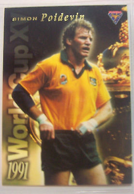 1991 Futera World Cup XV Rugby Union Card Simon Poidevin Australia