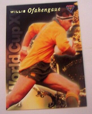 1991 Futera World Cup XV Rugby Union Card Willie Ofahengaue Australia Trading