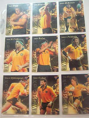 1991 World Cup Cards Rugby Union Australia Full Set of 12 Trading Card Collect