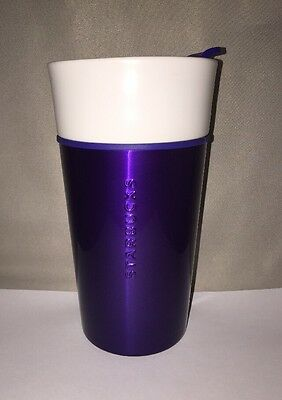 Starbucks Blue Purple Travel Ceramic Cup 12 Oz 2015. New!