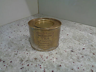 Vintage Brass English Breakfast Tea Tin/caddy/container Lidded Engraved