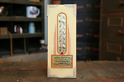 Vintage NATIONAL OIL & GAS PETROLEUM ADVERTISING THERMOMETER SIGN Bluffton, IN