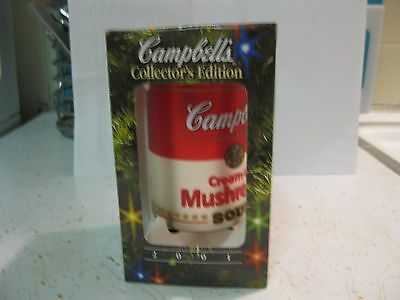 2001 Campbell Soup Ornament, Nos , Cream Of Mushroom Soup Can