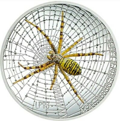 2016 1 Oz Silver WASP SPIDER Magnificent Life Coin 5$ Cook Islands.