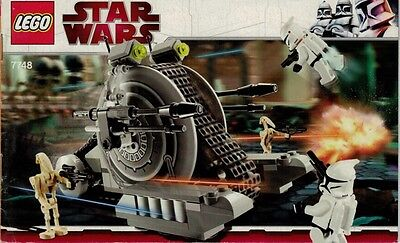 LEGO Instruction Manual ONLY - Star Wars Corporate Alliance Tank Droid - # 7748.