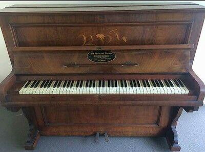 Vintage 'London and Liverpool Pianoforte' Upright Piano