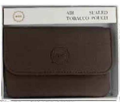 Genuine Leather Cigarette Tobacco MRK Air Sealed Tobacco Pouch Brown