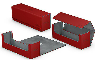 400 Red Ultimate Guard Arkhive Flip Case Deck Box Tray Xenoskin | Card storage