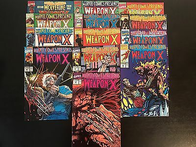 Marvel Comics Presents #72-84 1st Weapon X Lot of 13 Complete Run Set VF/NM