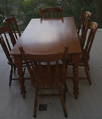 One of a kind, Unique Vintage dining suite, made in former Yugoslavia