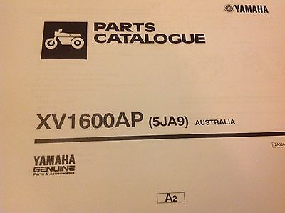 YAMAHA XVS 1100 PARTS LIST MANUAL CATALOGUE model: 5PBB