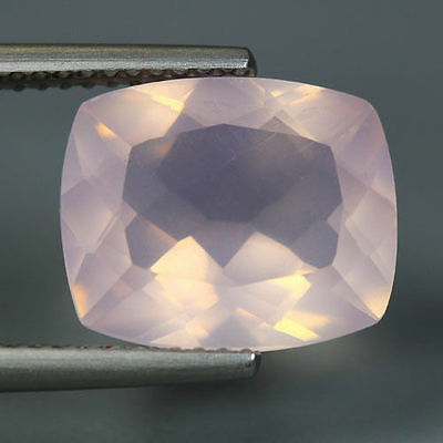 4.57 Cts_Unique Hi-End Very Rare Gemmy_100 % Natural Rose Quartz Faceted_Brazil