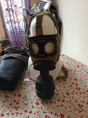 WW2 German issued French gas mask rare 1939 dated with case