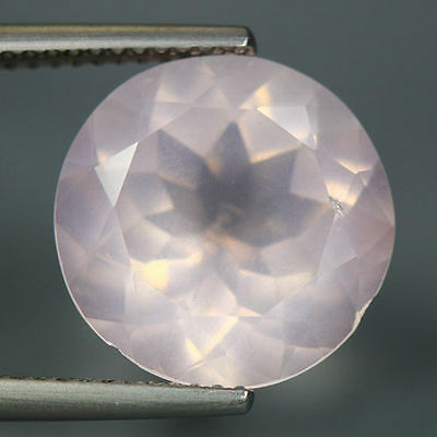 6.69 Cts_Unique Hi-End Very Rare Gemmy_100 % Natural Rose Quartz Faceted_Brazil