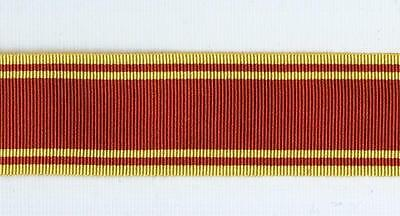 12 inch/36 inch length Full Size FIRE SERVICE LONG SERVICE MEDAL Ribbon