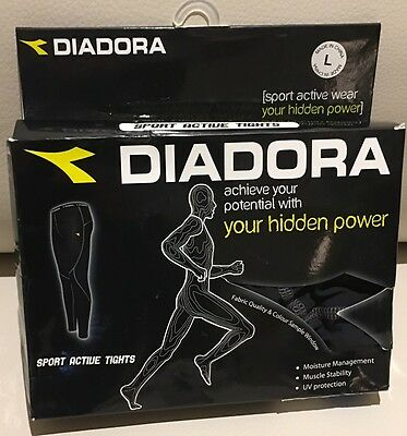 DIADORA Fitness Men's Full Length Sport Active Tights Size Large