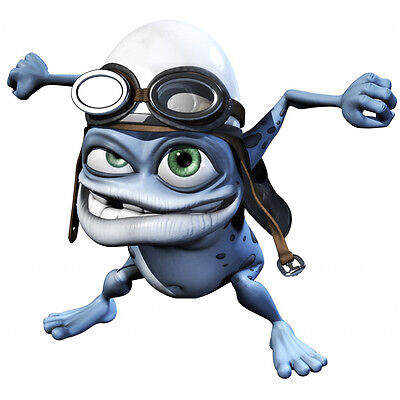 Funny Crazy Frog decal adhesive transparent sticker for car motorcycle bike box