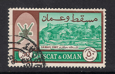 Muscat & Oman: 1966 Definitives: SG101a 50b with value in Arabic in baizas, used
