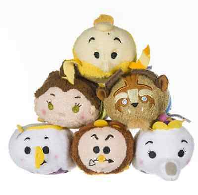 8 Styles Disney TSUM TSUM Beauty and the Beast Belle Plush Toys Dolls With Chain