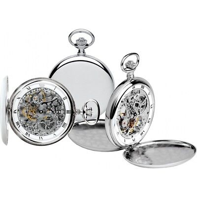 ROYAL LONDON Pocket Watch Jewelled Mechanical Skeleton Full Hunter 90016-01