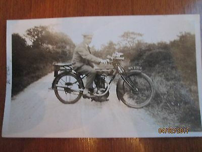 Vintage Motor Cycle Photograph