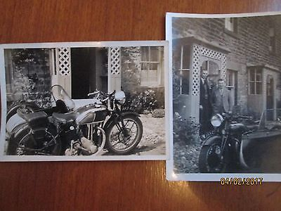 2 x VINTAGE MOTOR CYCLE PHOTOGRAPH
