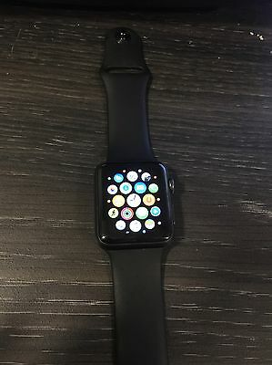 Apple Watch 42mm Space Grey Aluminium Case Black Sport Band -...
