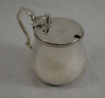 Antique Victorian Solid Sterling Silver Mustard Pot - George Fox 1861