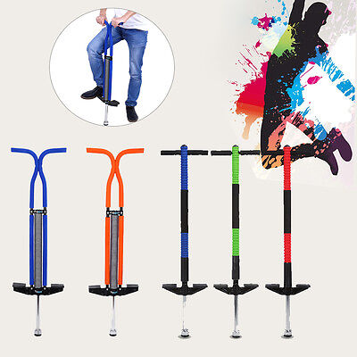 Multicolor Pogo Stick Jump Spring Stick BOUNCE Kids Outdoor Toy Fr Gift Exercise