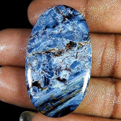 32.10Cts.100% Natural Chatoyant Pietersite African Loose Gemstone Oval Cabochon