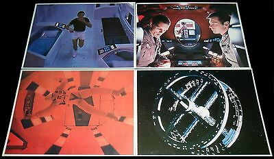2001: A Space Odyssey FOUR ORIGINAL 1968 US LOBBY CARD  Stanley Kubrick SCI-FI