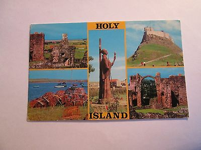 Postcard of Holy Island (multiview) unposted
