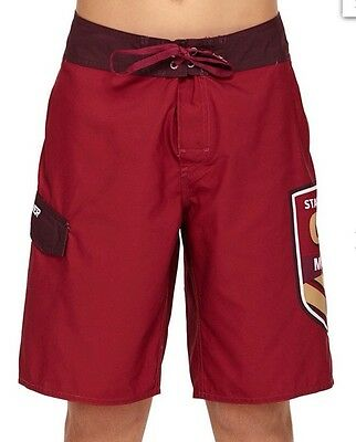 "New Quiksilver Youth Size 16 QLD Maroons Logo 20"" Boardshort Boys Teens"
