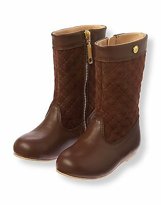 Janie And Jack Baby Girls Quilted Riding Boots Us 7 Uk 6