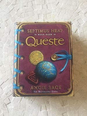 QUESTE (Septimus Heap 4) by Angie Sage 1st/1st UK HBK SIGNED, LINED & PUB. DATED