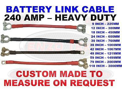 Live / Earth Leisure Battery Terminal Link Lead Cable 240 Amp Classic Kit Car