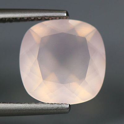 3.46 Cts_Unique Hi-End Very Rare Gemmy_100 % Natural Rose Quartz Faceted_Brazil