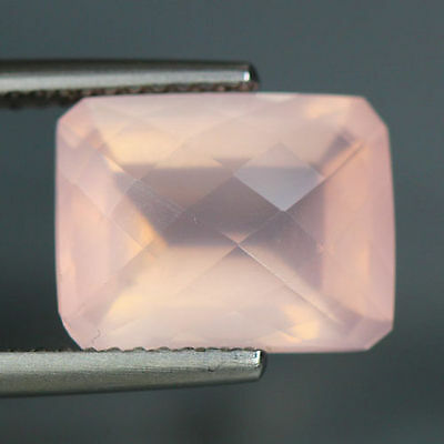 4.92 Cts_Unique Hi-End Very Rare Gemmy_100 % Natural Rose Quartz Faceted_Brazil