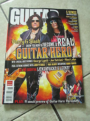 Guitar World Magazine Perry & Slash Cover June 2008 Issue