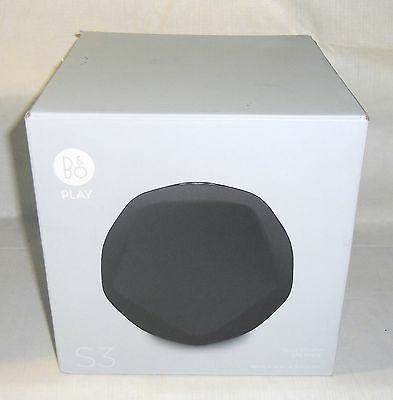 New B&O PLAY by Bang & Olufsen Beoplay S3 Home Wireless Bluetooth Speaker Black