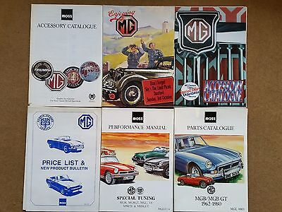 Early '90's MG Parts & Accessory catalogues; Moss + Enjoying MG Owners Club Mag