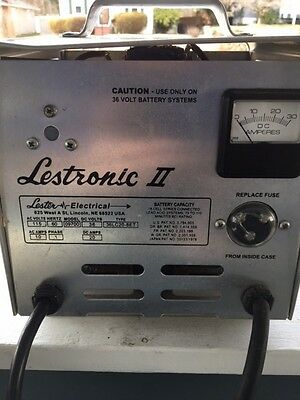Lestronic Ii 36 Volt Golf Cart Battery Charger With Instructions Model 9600