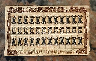 Maplewood Sewing 1920's Ladies Fastners Rich Litho