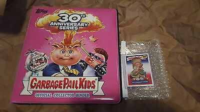 2015 Garbage Pail Kids - 30th Anniversary PINK Binder + Let The Eat Cate Sticker
