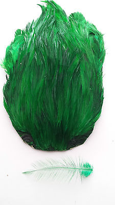 "#1 INDIA CAPE "" Rooster Cock Neck Cape ""     GREEN    Fly Tying Dry Flies"