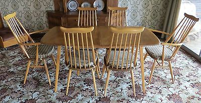 Ercol Vintage Grand Windsor Table And Goldsmith chairs